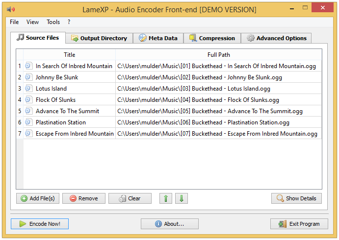 LameXP Screenshot: LameXP running on Windows 8.1